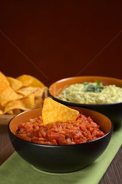 Tomato Dip with Nacho Stock photo © ildi