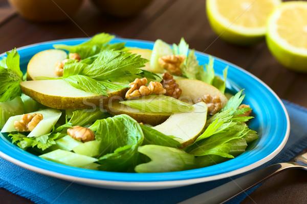 Sedano pera noce insalata fresche blu Foto d'archivio © ildi