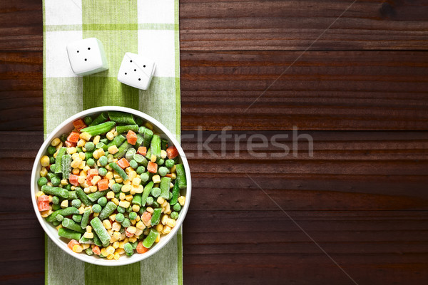 Frozen Mixed Vegetables Stock photo © ildi