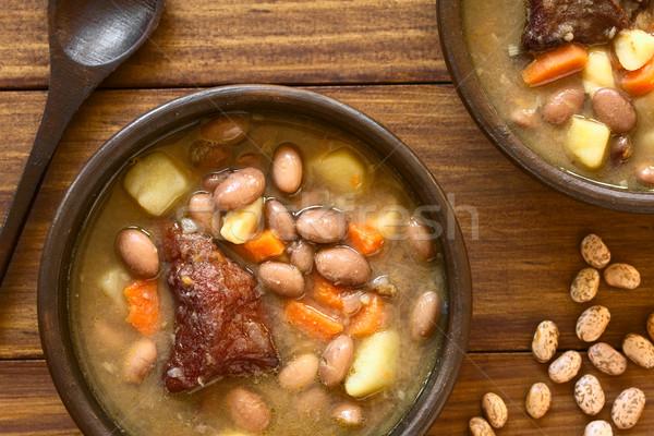 Fasulye çorbası geleneksel fasulye çorba fasulye Stok fotoğraf © ildi