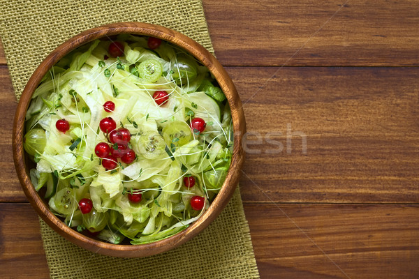 Gooseberry Redcurrant Cucumber Lettuce Salad Stock photo © ildi