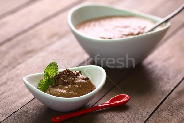 Mousse au Chocolat Stock photo © ildi