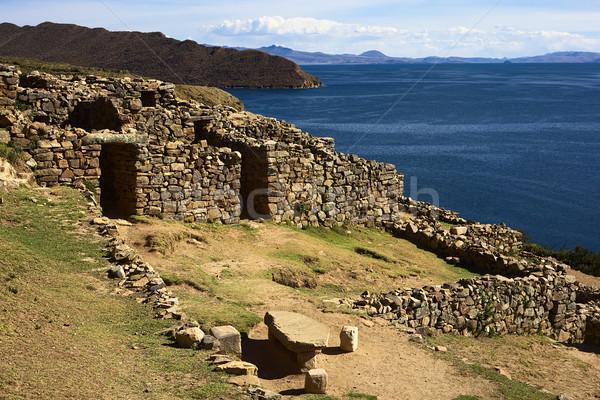 Lac Bolivie labyrinthe origine Photo stock © ildi