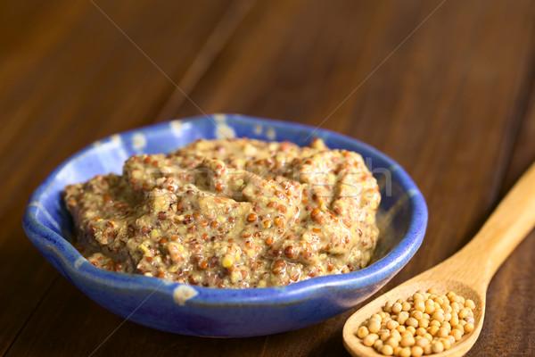 Stok fotoğraf: Bütün · tahıl · hardal · küçük · çanak · sarı