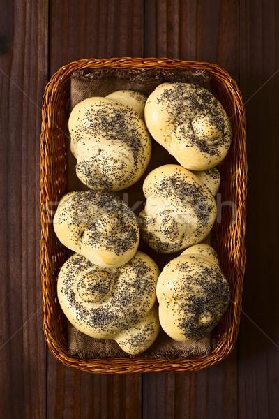 Homemade Poppy Seed Bread Rolls Stock photo © ildi