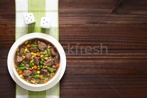Sığır eti güveç çorba sebze renkli yaz havuç Stok fotoğraf © ildi
