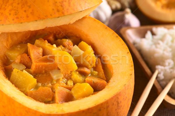 Zucca patata dolce strigliare servito messa a fuoco selettiva focus Foto d'archivio © ildi