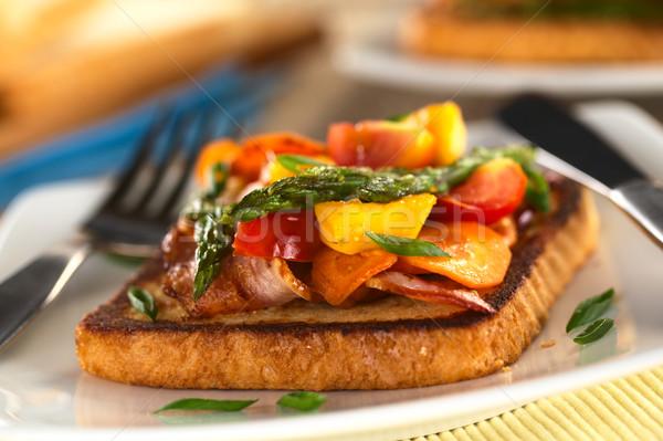 Baked Asparagus Sandwich Stock photo © ildi