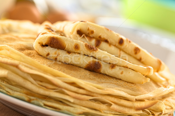 Fresh Homemade Crepes Stock photo © ildi