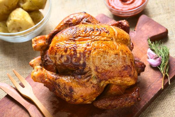 Roast Chicken Stock photo © ildi