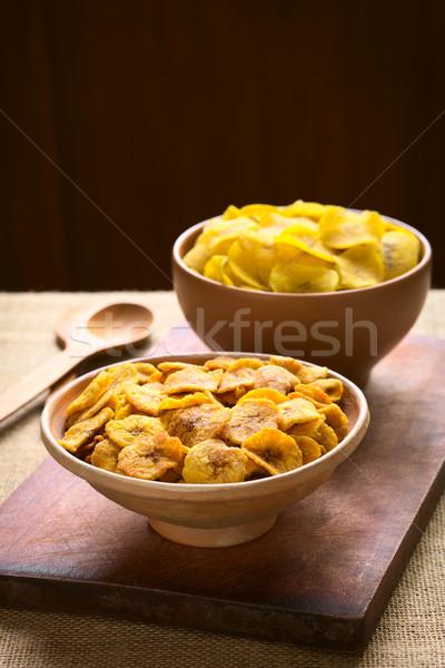 Stock fotó: édes · sós · sültkrumpli · tálak · elöl · hát