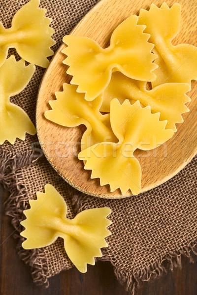 Raw Farfalle Pasta Stock photo © ildi