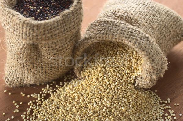 Raw White Quinoa Grains Stock photo © ildi