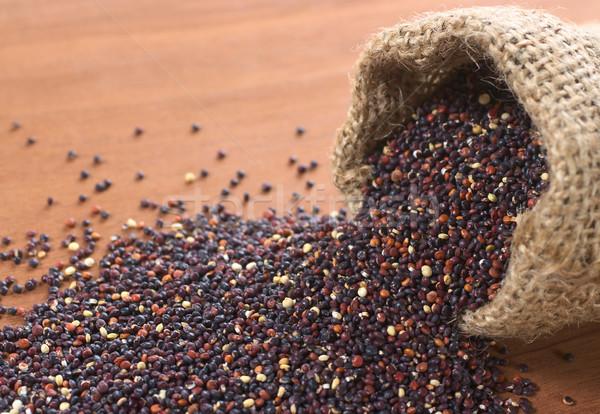 Raw Red Quinoa Grains Stock photo © ildi