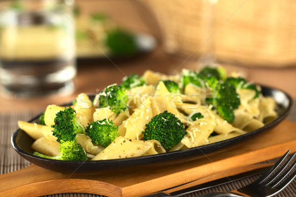 Broccoli and Pasta Baked with Cheese  Stock photo © ildi
