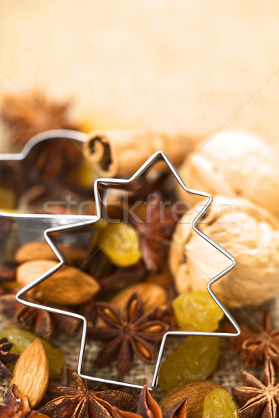 Tree Cookie Cutter on Baking Ingredients Stock photo © ildi