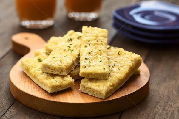 чеснока сыра свежие домашний дрожжи служивший Сток-фото © ildi