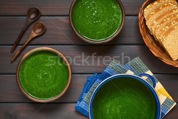 Cream of Spinach Soup Stock photo © ildi