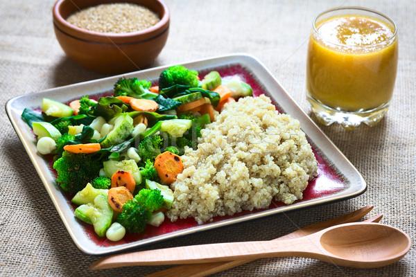 Cooked White Quinoa with Vegetables Stock photo © ildi
