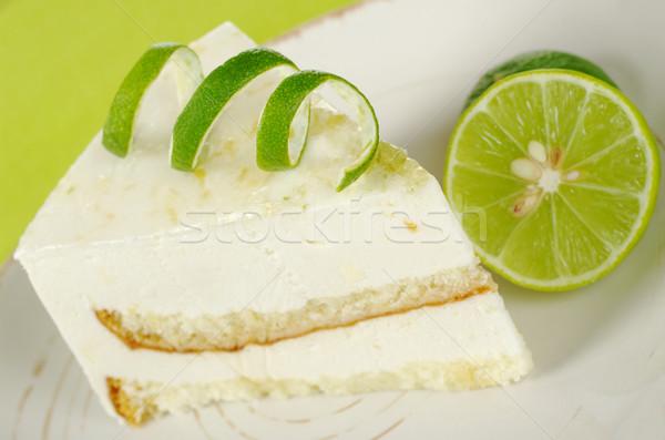 Lime Cake with Lime Stock photo © ildi