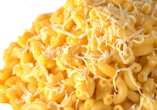 マカロニ チーズ 粉チーズ 先頭 選択フォーカス フォーカス ストックフォト © ildi