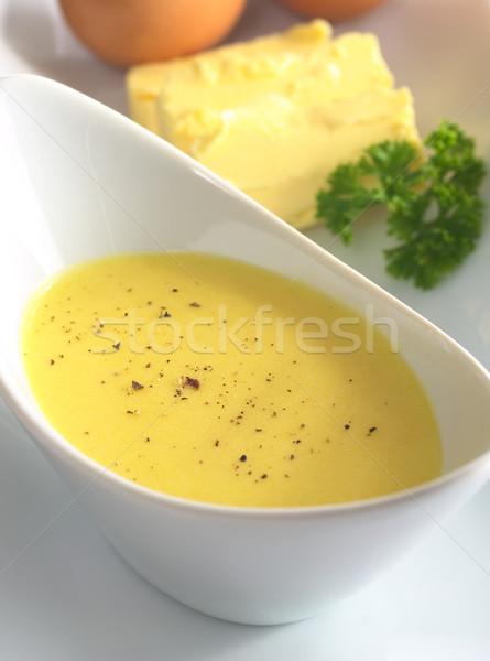 Salsa pimienta pimienta negro superior ingredientes huevo Foto stock © ildi