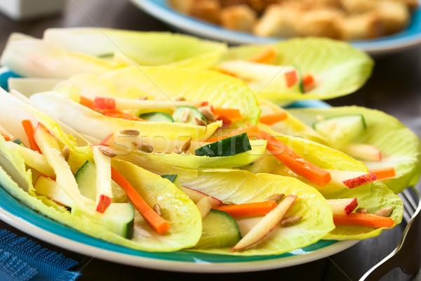 Салат свежие листьев огурца морковь яблоко Сток-фото © ildi