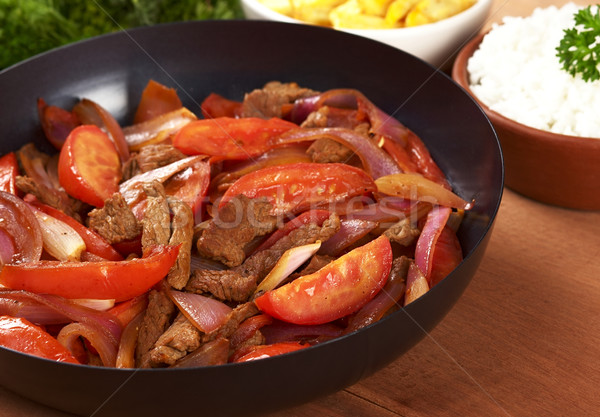 Stock photo: Peruvian Dish Called Lomo Saltado