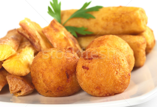 Fried Snacks out of Manioc Stock photo © ildi
