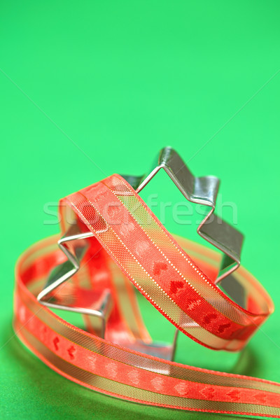 Tree Shaped Cookie Cutter with Ribbon Stock photo © ildi