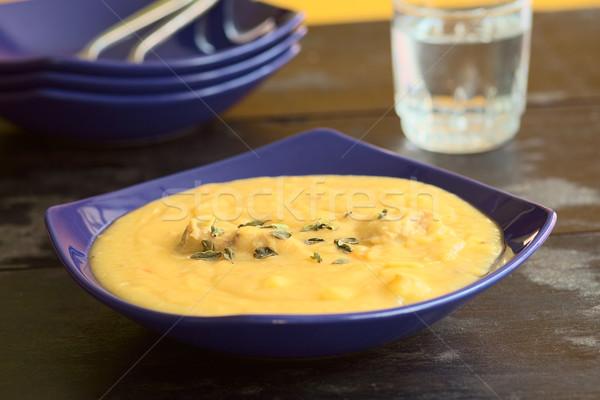 Yellow Split Pea Soup with Chicken Stock photo © ildi