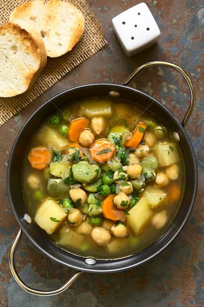 Chickpea Vegetable Soup Stock photo © ildi