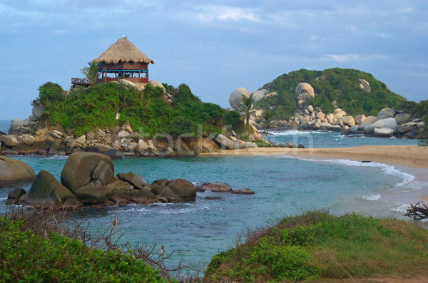 Beach Hut in Tayrona Stock photo © ildi
