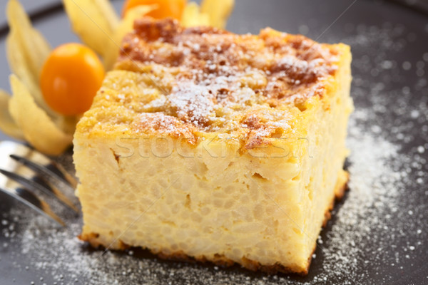 Baked Rice Pudding Dessert Stock photo © ildi