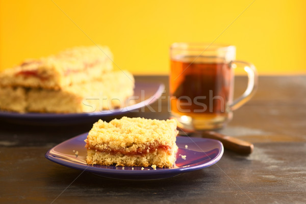 ケーキ 酵母 ジャム 先頭 選択フォーカス フォーカス ストックフォト © ildi
