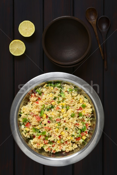 Vegetales cuscús ensalada vegetariano tomate Foto stock © ildi