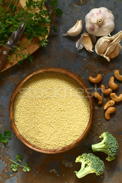 Raw Couscous Stock photo © ildi