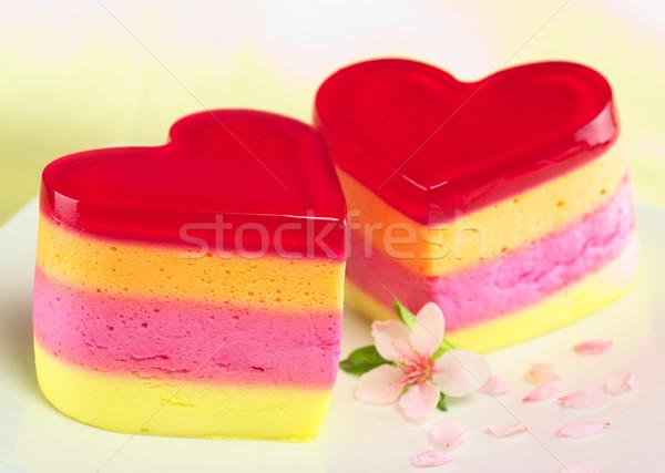 Ciasta kolorowy Brzoskwinia kwiat tablicy selektywne focus Zdjęcia stock © ildi