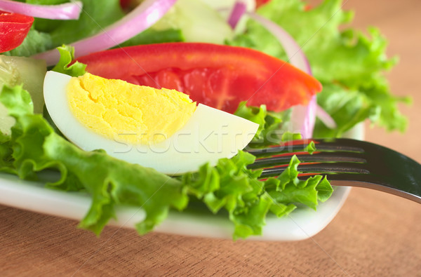 Fresh Salad with Boiled Egg Stock photo © ildi