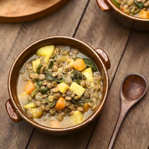 Lentil and Spinach Soup Stock photo © ildi