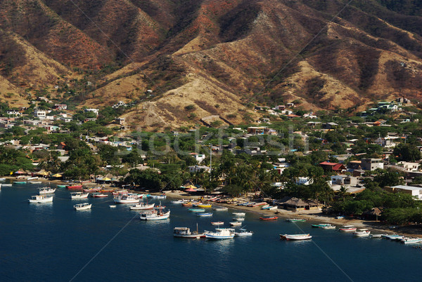 Beach of Taganga, Colombia  Stock photo © ildi