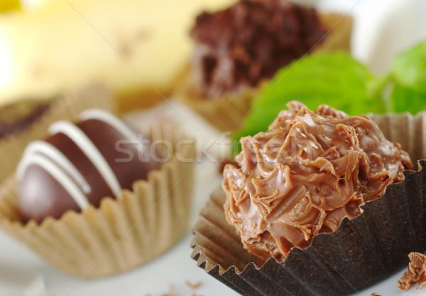 Chocolate Truffles Stock photo © ildi