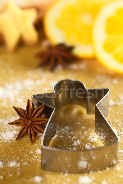 Star Anise with Angel Shaped Cookie Cutter Stock photo © ildi