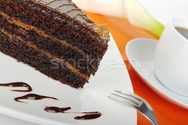 Stock photo: Chocolate  Cake