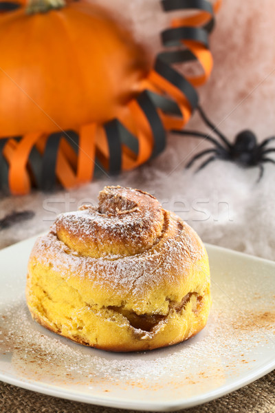 Stock photo: Pumpkin Cinnamon Roll