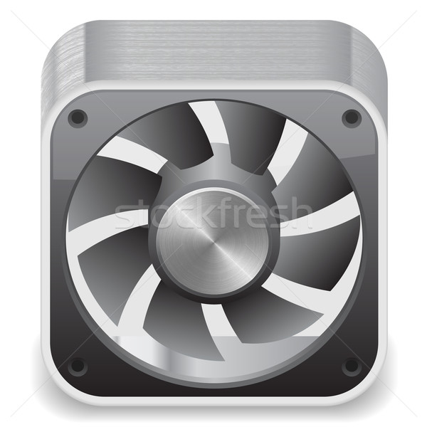 Icon for computer cooler Stock photo © ildogesto