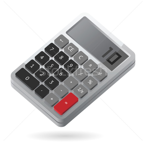 Isometric icon of calculator Stock photo © ildogesto