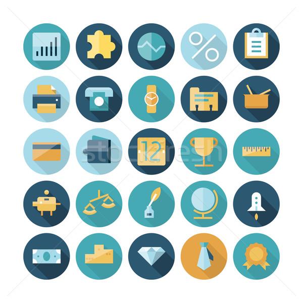 Flat design icons for business and finance Stock photo © ildogesto