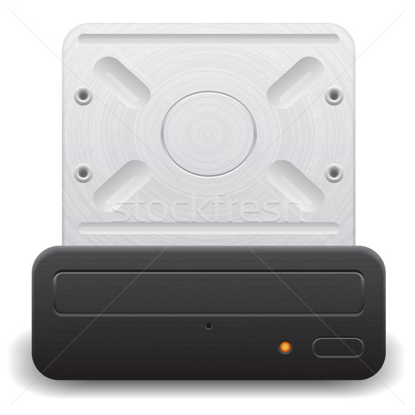 Icon for optical drive Stock photo © ildogesto