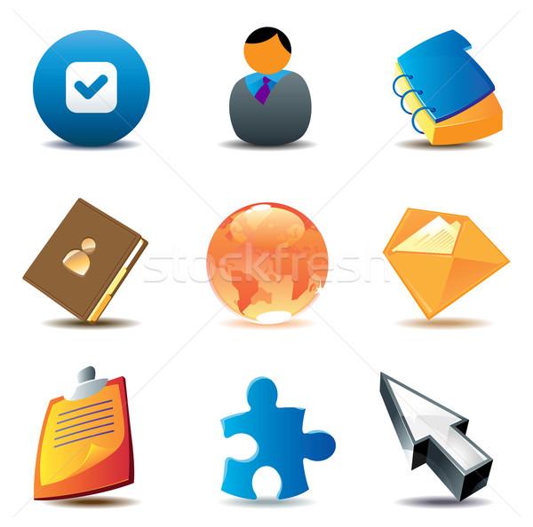 Business contacts icons Stock photo © ildogesto